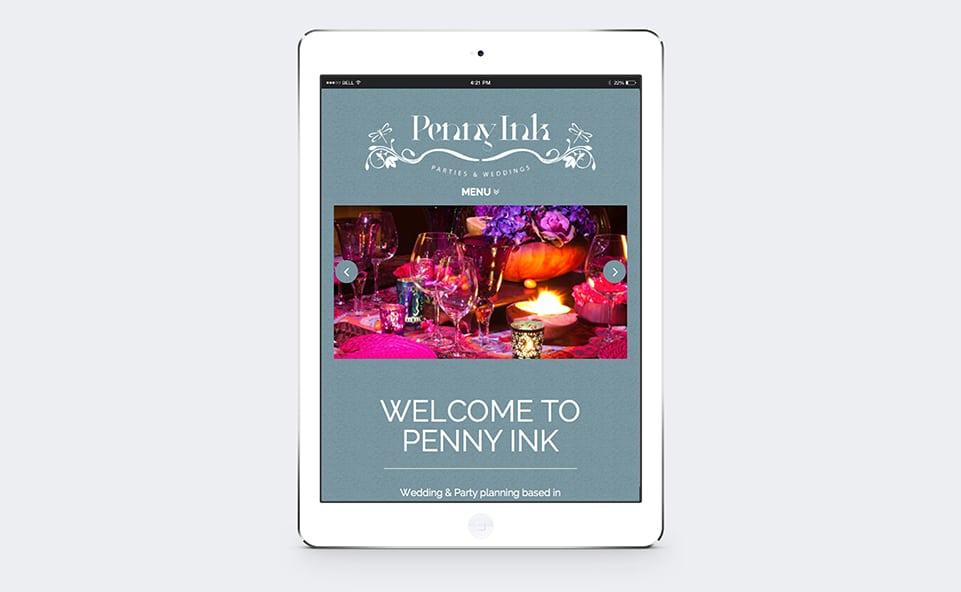 iPad render of the responsive website design