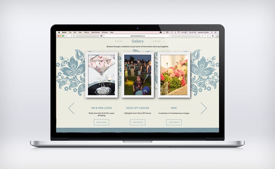 Gallery section for the penny ink responsive website design
