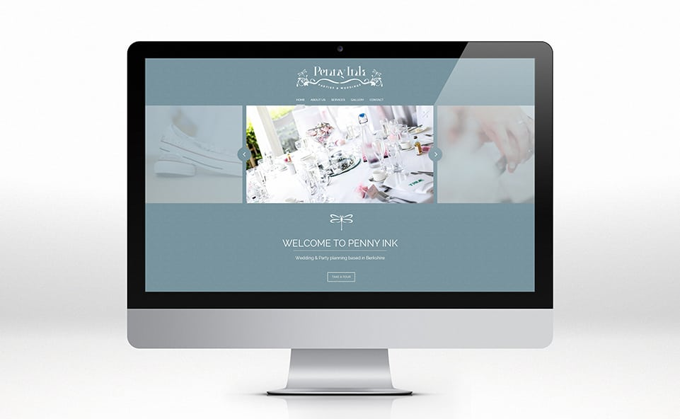 Responsive website design for penny ink home page
